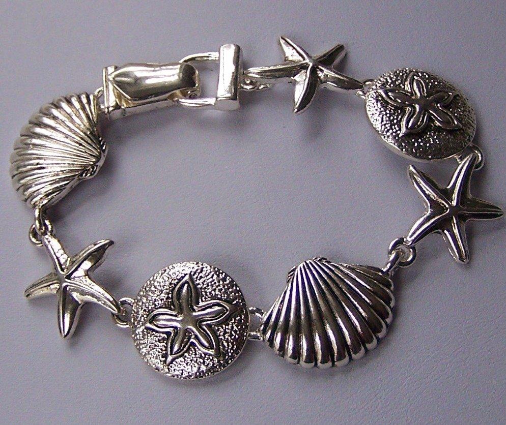 Sea Shell Sand Dollar Bracelet