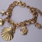 Sea Shell Starfish Star Fish Charm Horse Bracelet