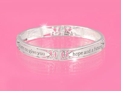 RELIGIOUS CHRISTIAN JEREMIAH 29:11 DECLARES THE LORD GOD WORD INSPIRATIONAL BRACELET