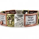 Religious Tri Tone Delight in the Lord Bracelet