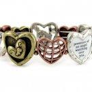 Religious Tri Tone Angel Blessing Bracelet