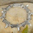 Western Silver Tone Boots Bracelet