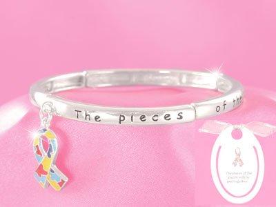 Autism Awareness Puzzle Charm Bracelet