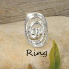 Religious Faith Hope Love Spiral Ring