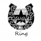 Cowgirl Horseshoe Horse Shoe Ring