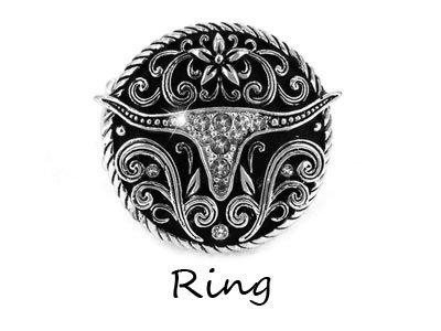 Cowgirl Long Horn Longhorn Bull Steer Ring