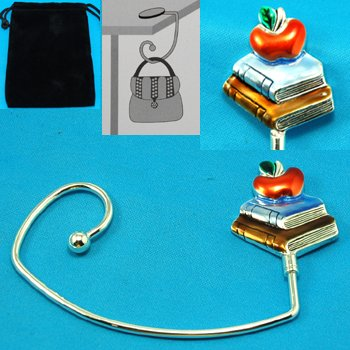 Teacher School Books Student Purse Handbag Caddy Holder Hanger