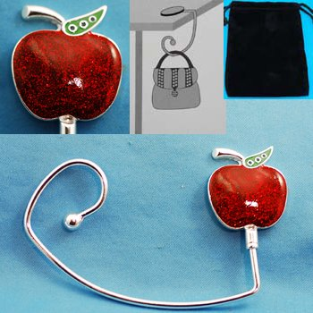 Teacher Red Apple Purse Handbag Caddy Holder Hanger