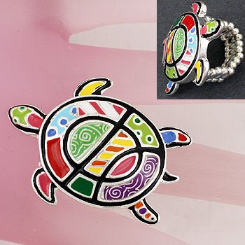 Multicolor Turtle Ring
