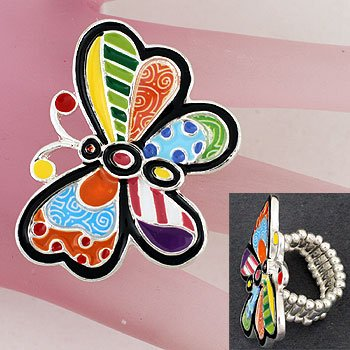 Multicolor Butterfly Ring