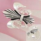Silver Tone French Fleur De Lis Ring