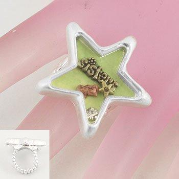 Love Sister Star Silver Tone Ring