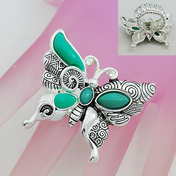 Artistic Butterfly Silver Tone Ring