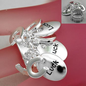 Good Luck Silver Tone Ring