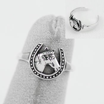 Horse Head Horsehead Pony Sterling Silver Toe Ring