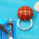 Basketball Basket Ball Picture Badge ID Eye Glass Holder Brooch Pin
