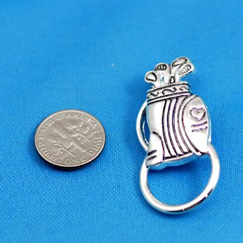 Golf Bag Picture Badge ID Eye Glass Holder Brooch Pin