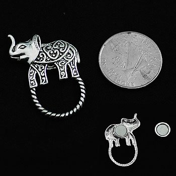 Elephant Textured Eye Glass Badge ID Holder