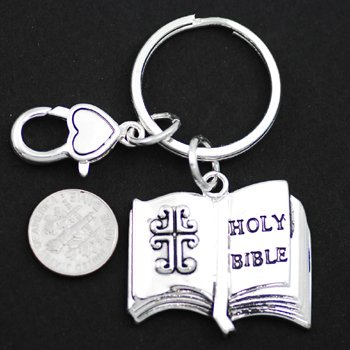 Religious Holy Bible Key Keychain