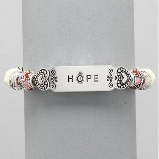 Hope Heart Love Religious Inspirational Bracelet