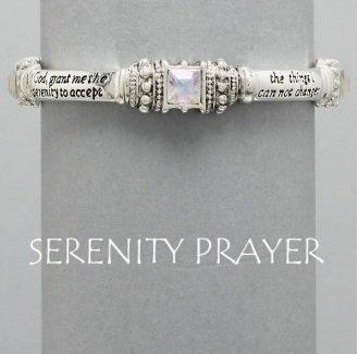 Religious AA Serenity Prayer Clear Bracelet