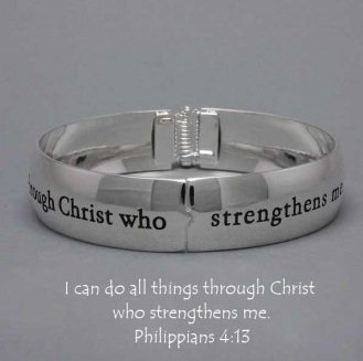 Religious Philippians 4:13 I Can Do All Things Through Christ Bracelet