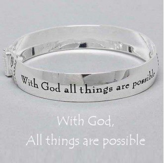 Religious With God All Things Are Possible Bangle Bracelet