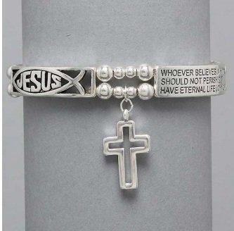 Religious Jesus John 3:16 For God So Loved the World Charm Bracelet