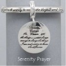 Religious Serenity Prayer Bangle Charm Bracelet