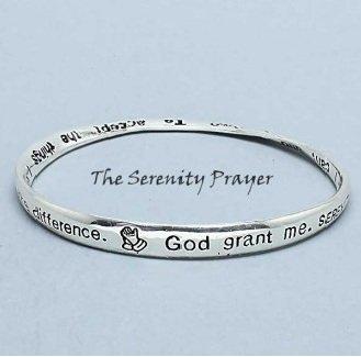 Religious Serenity Prayer Mobius Bangle Bracelet