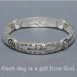 Religious Each Day Is a Gift From God Bangle Bracelet