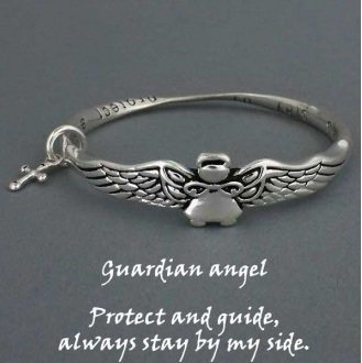 Religious Guardian Angel Protect and Guide Bracelet