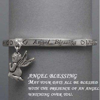 Religious Guardian Angel Charm Blessing Bracelet