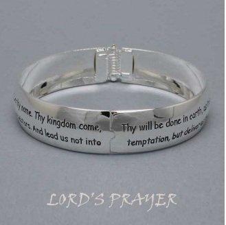 Religious Lords Prayer Bangle Bracelet