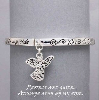 Religious Protect and Guide Me Guardian Angel Charm Bracelet
