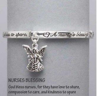 Religious Nurses Blessing Guardian Angel Charm Bracelet