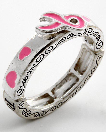 Pink Ribbon Breast Cancer Awareness We Can Ring