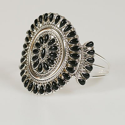 Black Western Bangle Bracelet