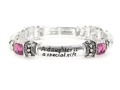Pink Daughter is a Blessing Bracelet