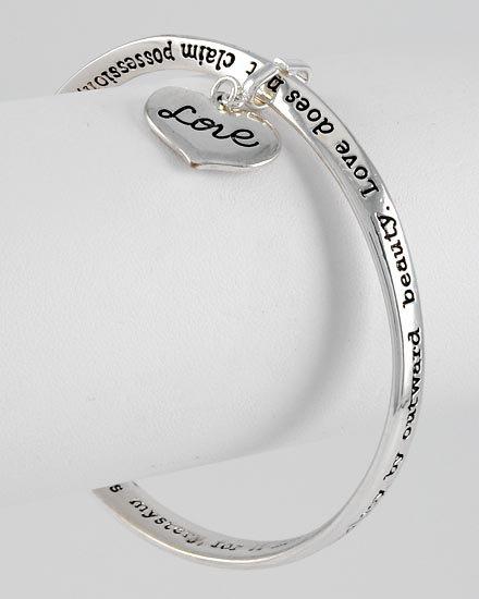 Heart Love Adorns Itself Charm Bracelet