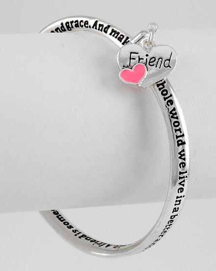 Treasure Friend Friendship Heart Love Charm Bracelet