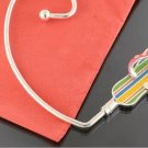 Multicolor Flip Flops Silver Tone Handbag Purse Hook Caddy Holder