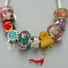Ladies Lady Stuff Shoes Handbag Lipstick Corsette Watch Glass Bracelet