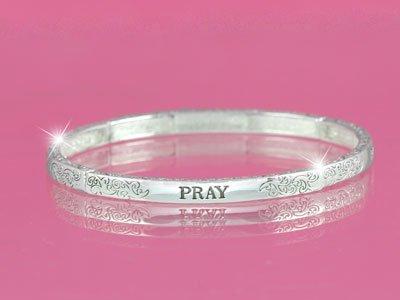 Pray Religious Stackable Bracelet