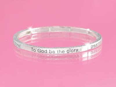 To God Be the Glory Religious Stackable Bracelet