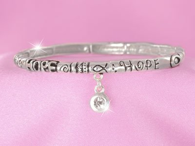 Hope Inspiration Religious Stackable Bracelet