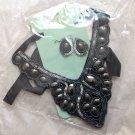 Wholesale Bulk Mixed Lot of 4 Black Ribbon Statement Bib Necklace