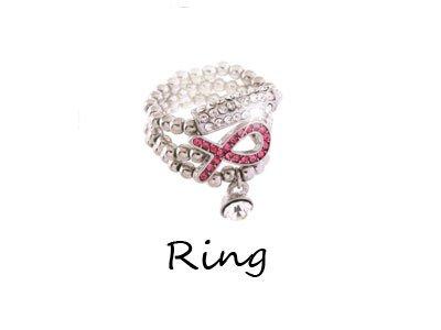 Pink Ribbon Breast Cancer Awareness Ring