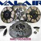BILLET Valair dual disc clutch w/ ceramic buttons NMU70G56DDB Dodge 2005.5-2012