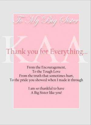 Big Sister, Thank You